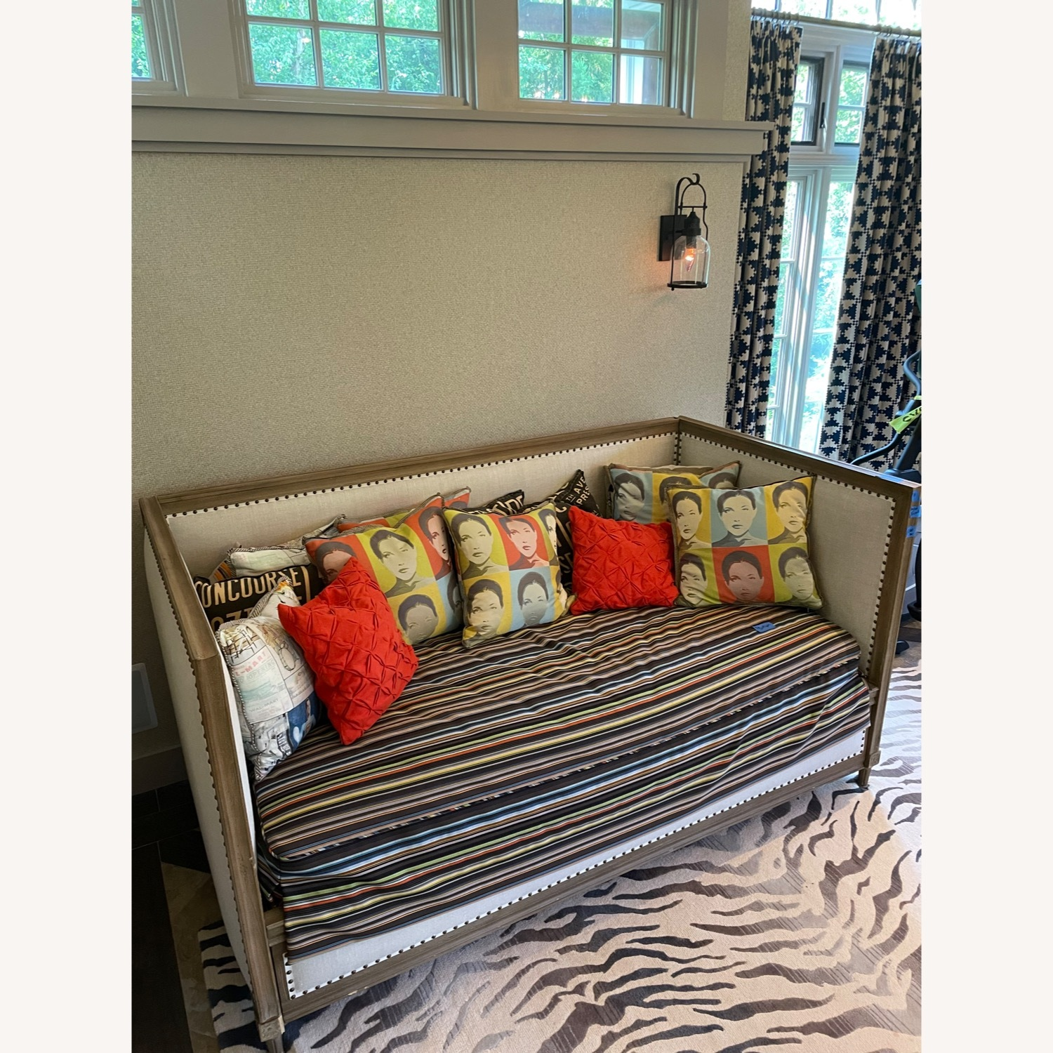 Restoration Hardware Maison Daybed with Paul Smith Cover - image-1