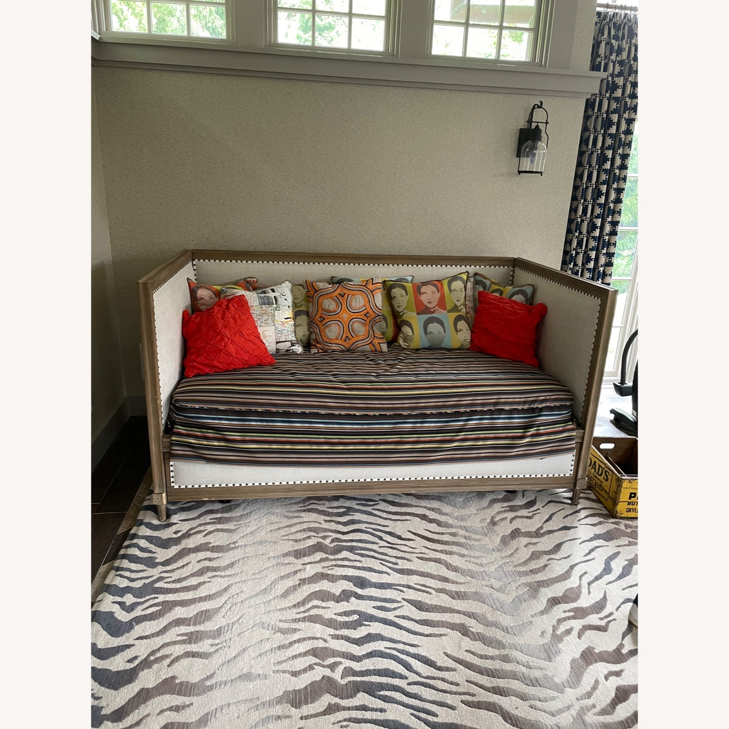 Restoration Hardware Maison Daybed with Paul Smith Cover - image-0