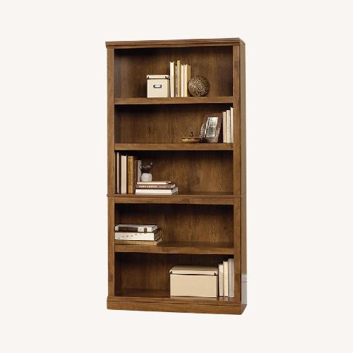 Used Sauder 5-Shelf Oiled Oak Bookcase for sale on AptDeco