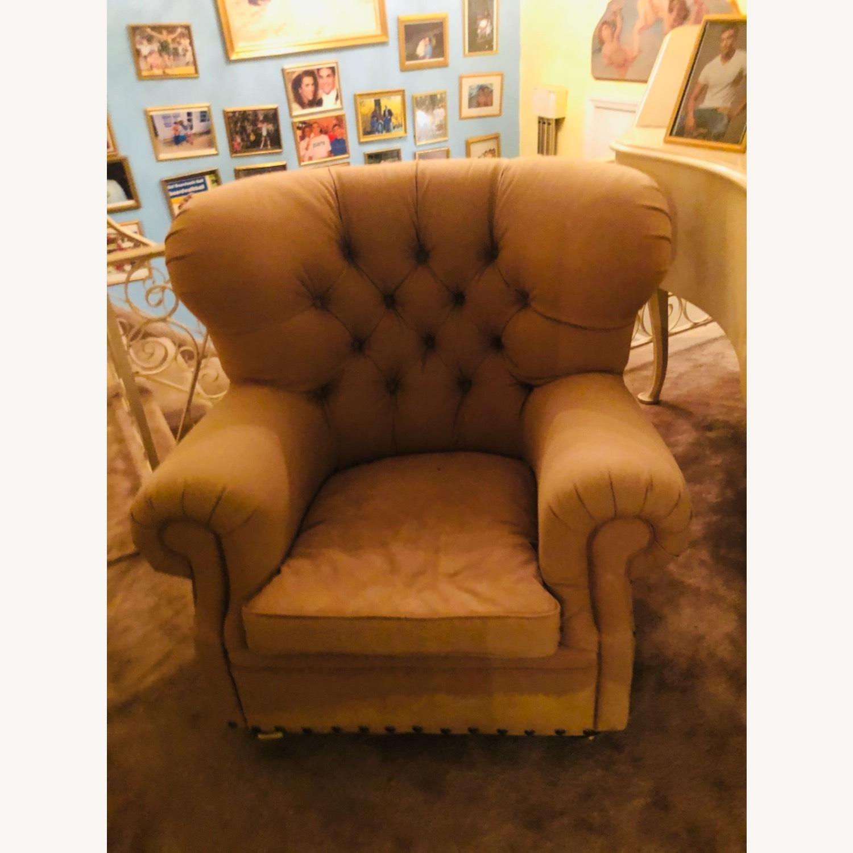 Large Fabric Plush Chair Set - image-1