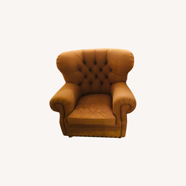 Large Fabric Plush Chair Set - image-0