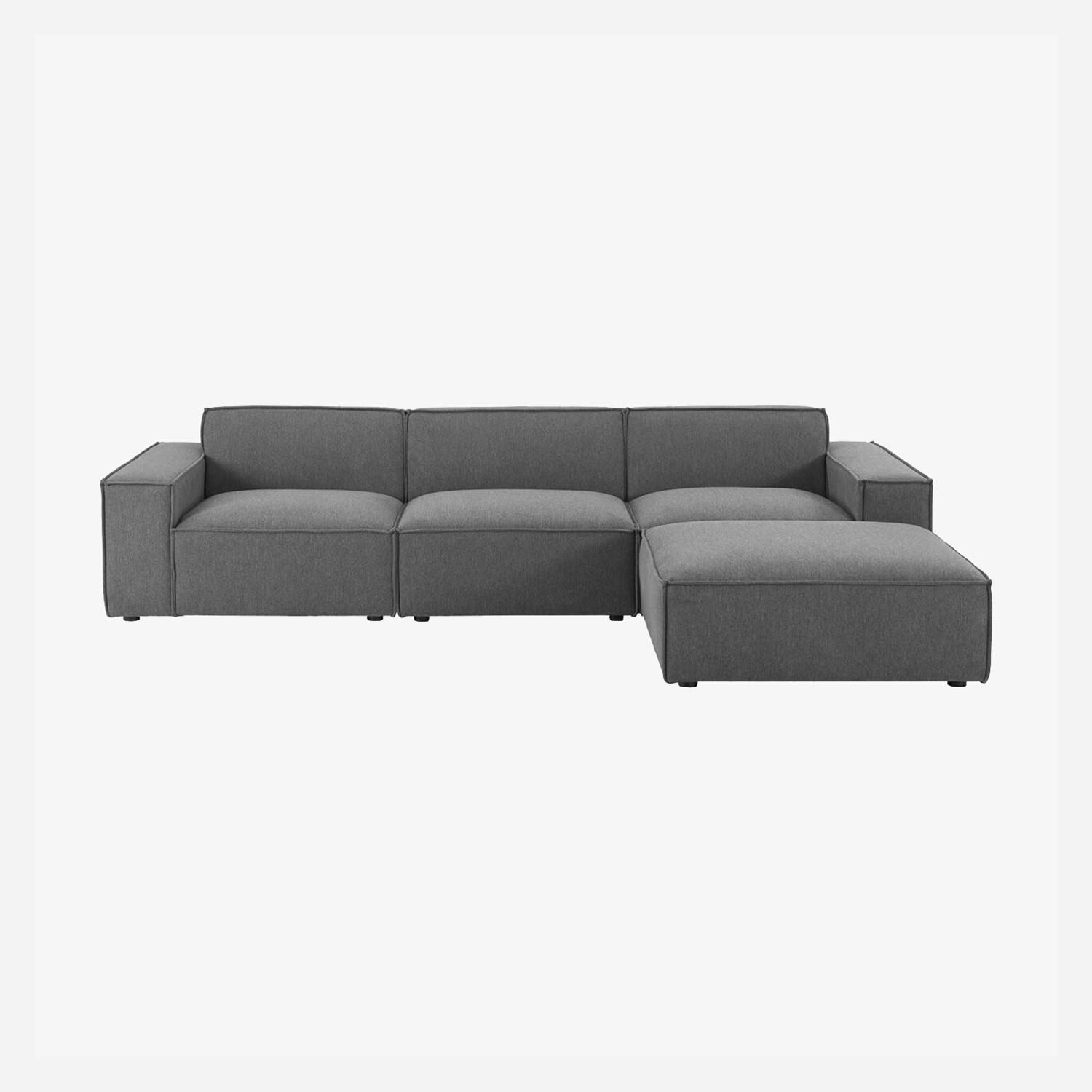 4-Piece Sectional Sofa In Charcoal Fabric Finish - image-11