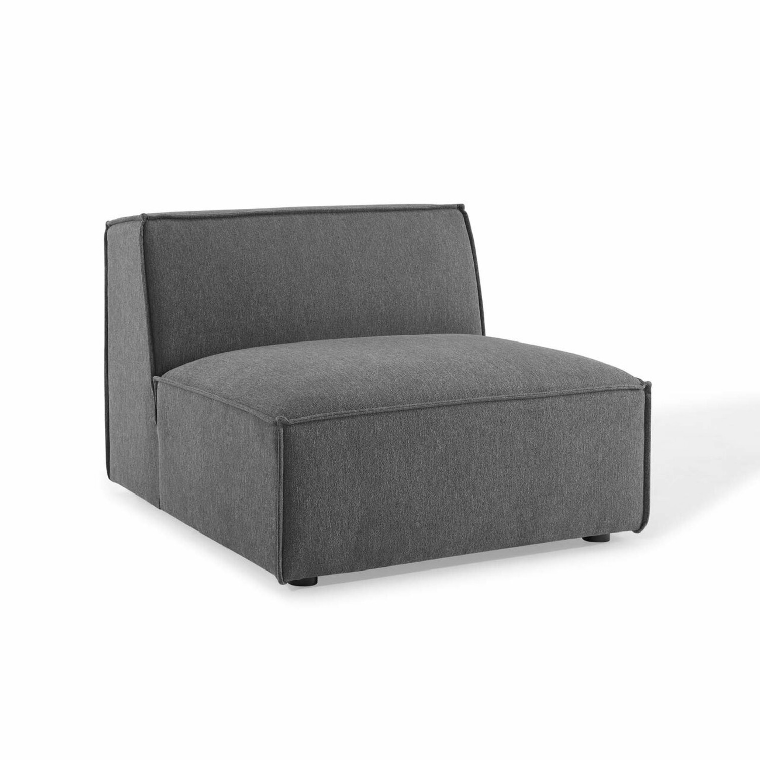 4-Piece Sectional Sofa In Charcoal Fabric Finish - image-6