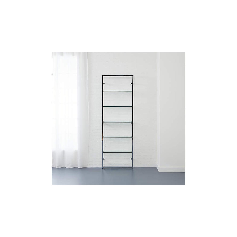 CB2 Tesso Chrome Glass Shelf - image-4