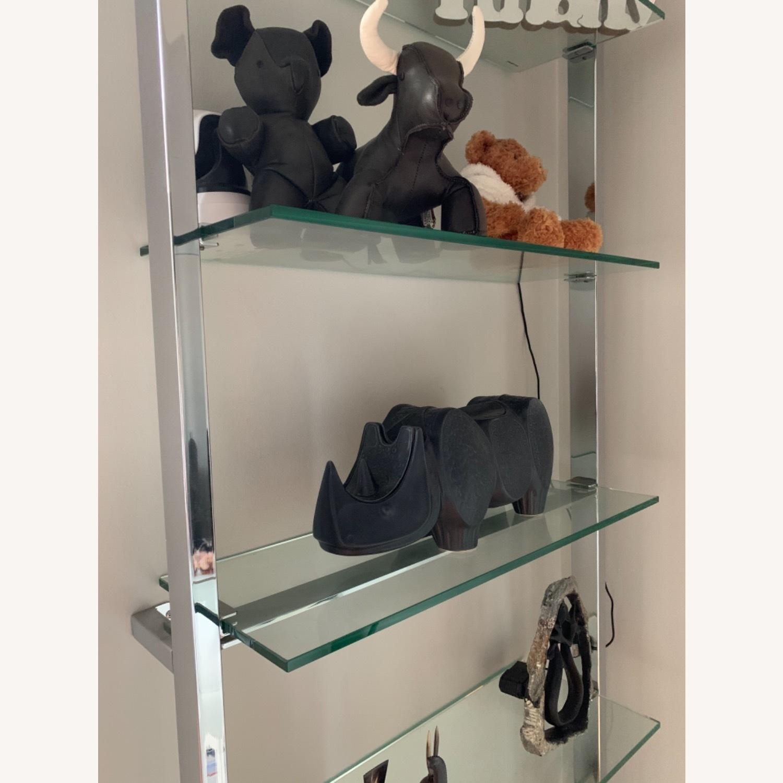 CB2 Tesso Chrome Glass Shelf - image-2