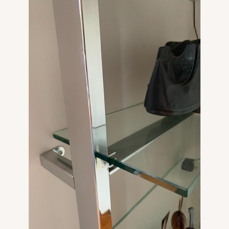 CB2 Tesso Chrome Glass Shelf - image-3