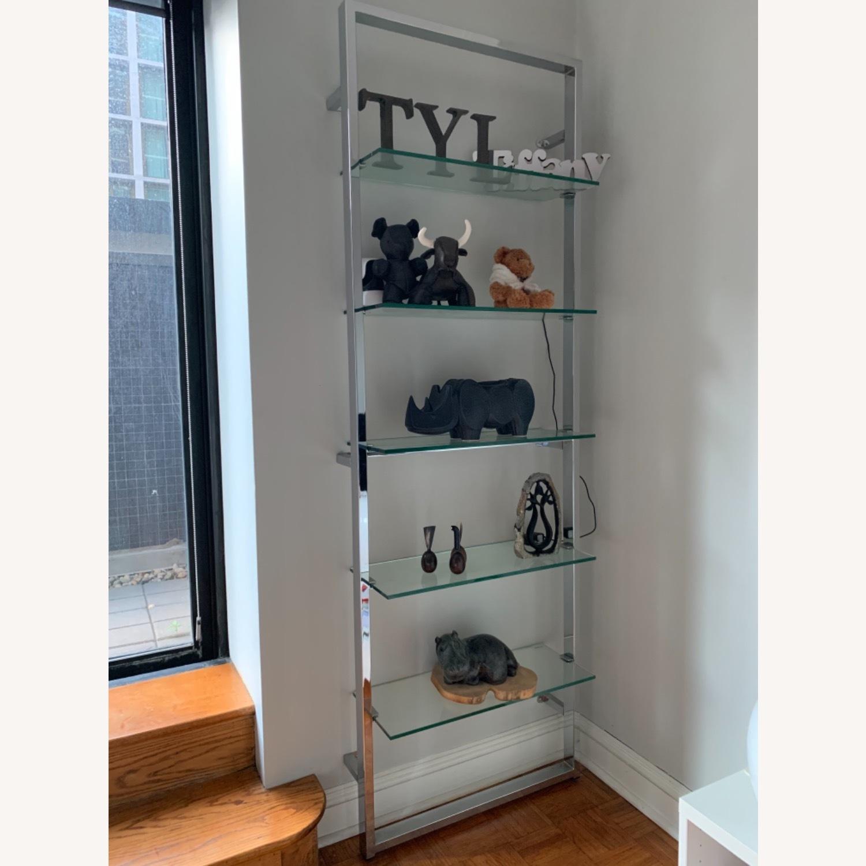 CB2 Tesso Chrome Glass Shelf - image-1