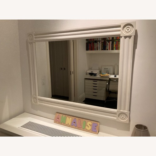 Used Large White Shabby Chic Mirror for sale on AptDeco