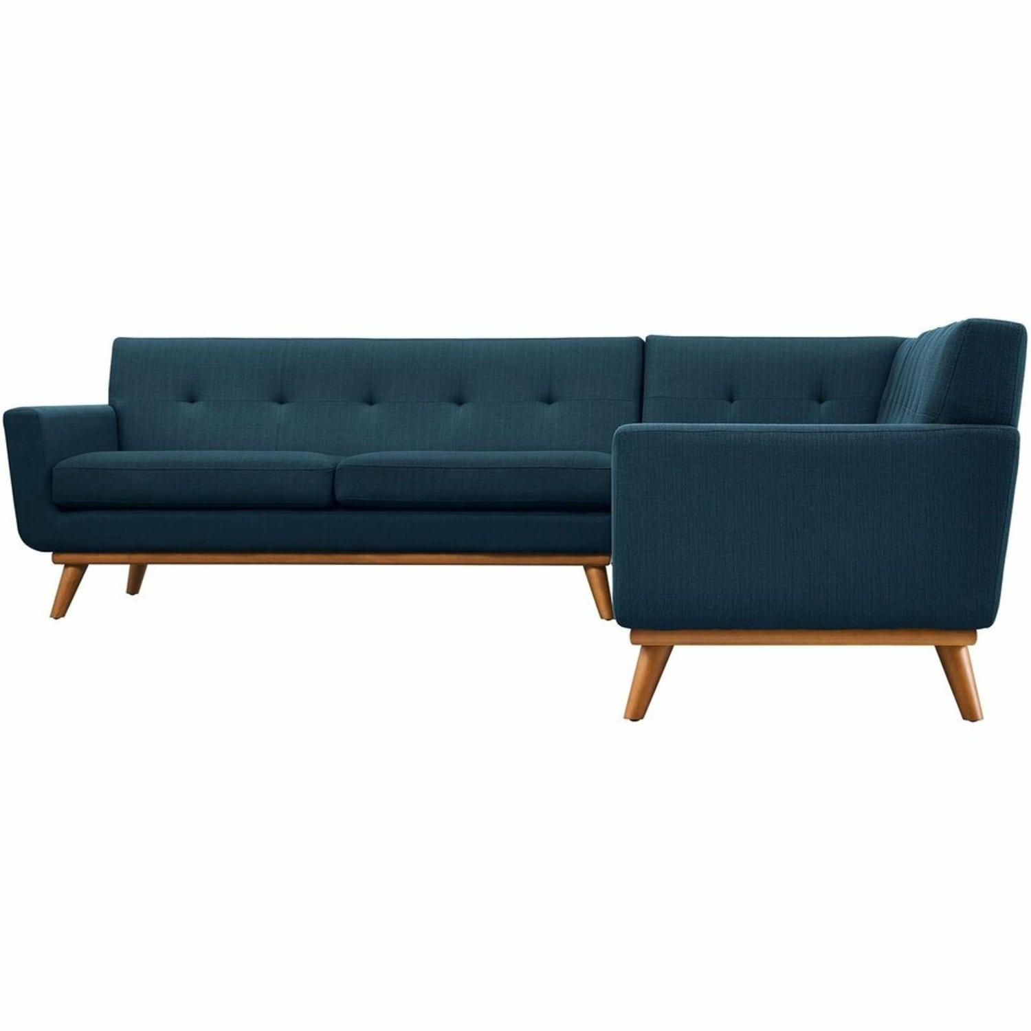 3-Piece L-Shaped Sectional In Azure Upholstery - image-1