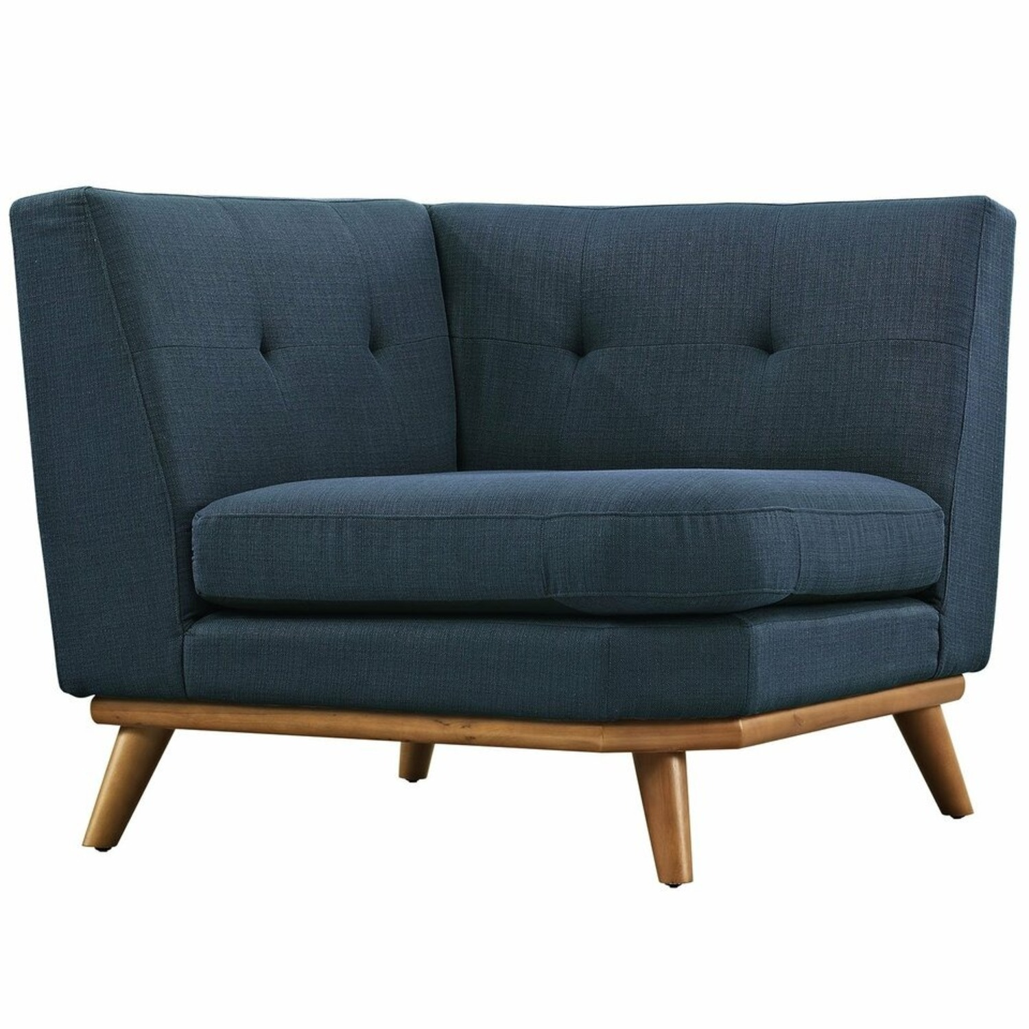 3-Piece L-Shaped Sectional In Azure Upholstery - image-2