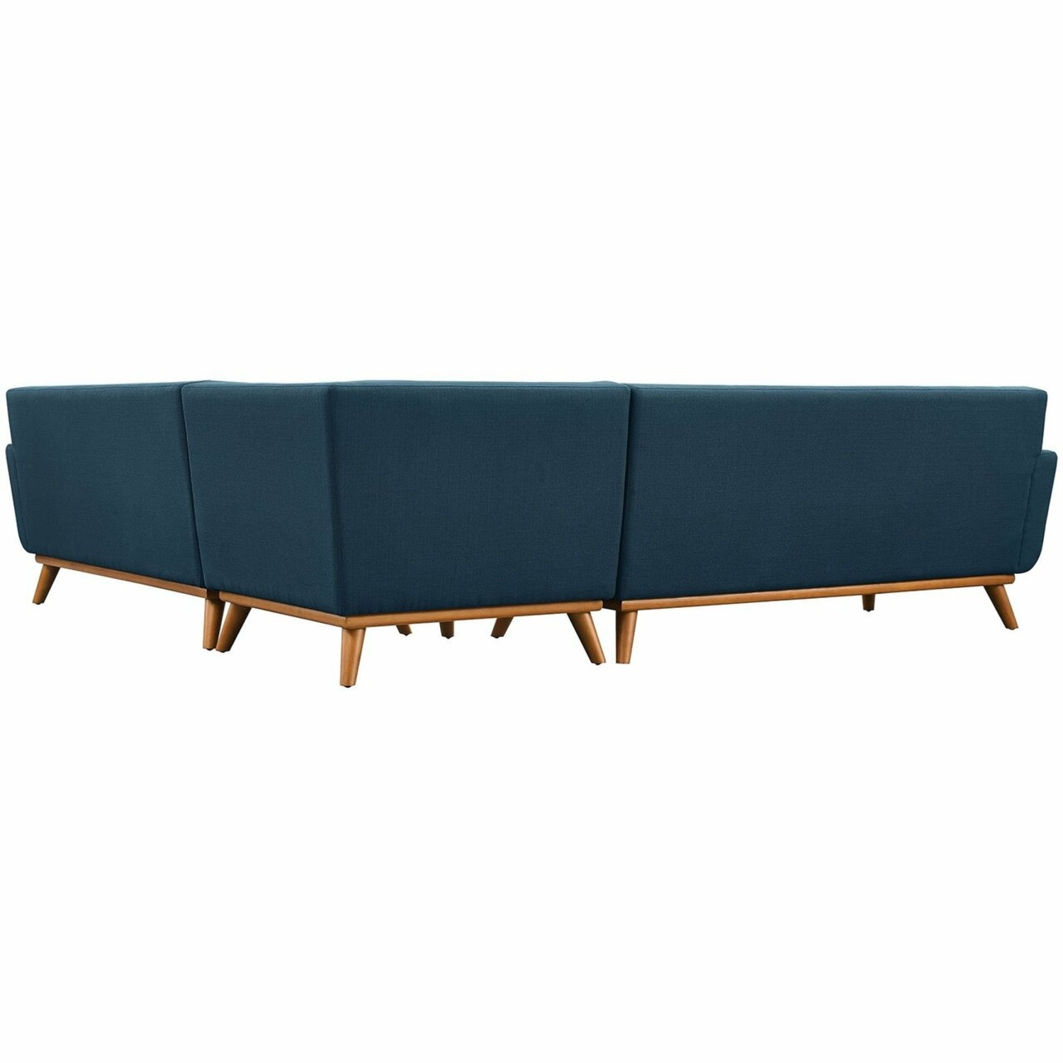 3-Piece L-Shaped Sectional In Azure Upholstery - image-5