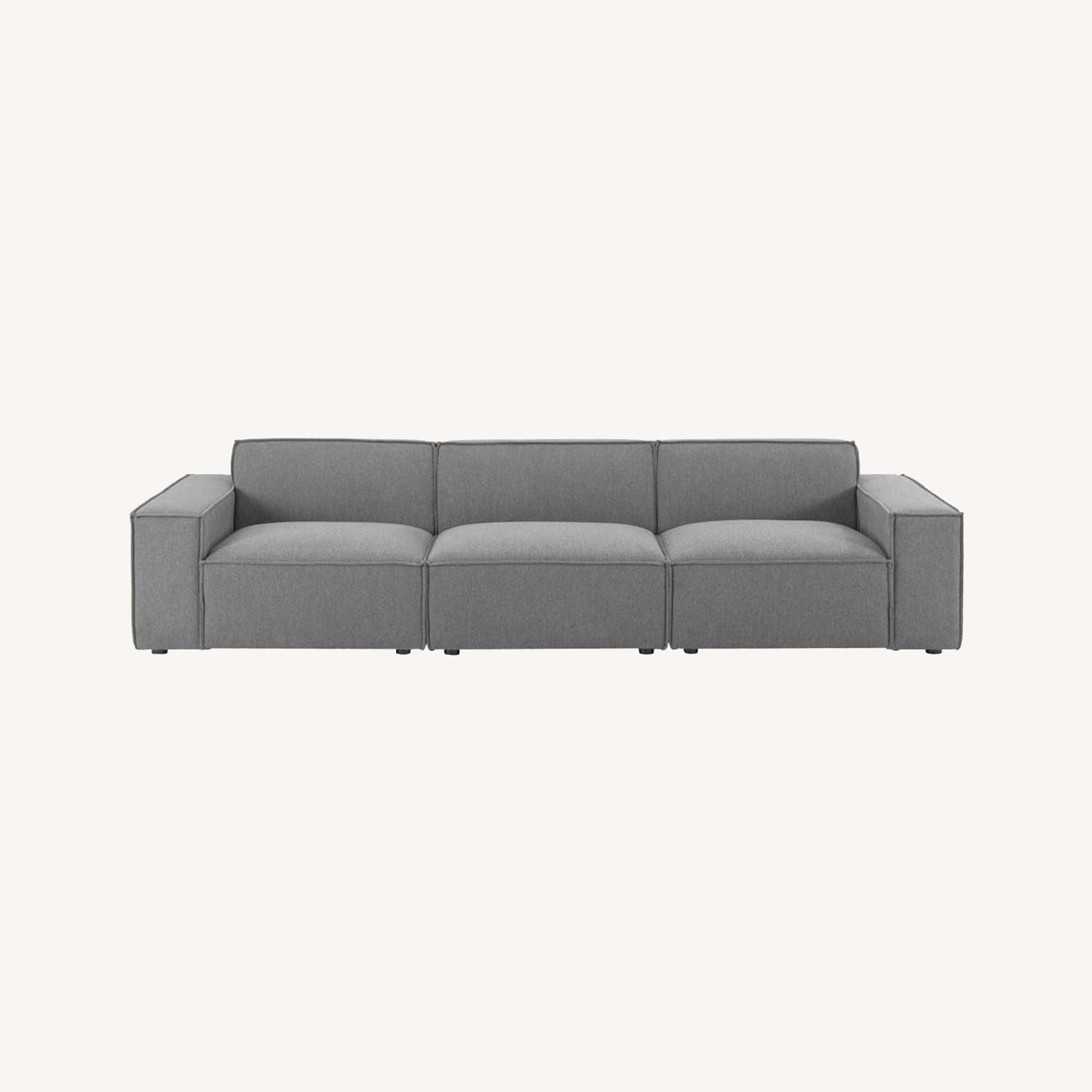 3-Piece Sectional Sofa In Charcoal Upholstery - image-12