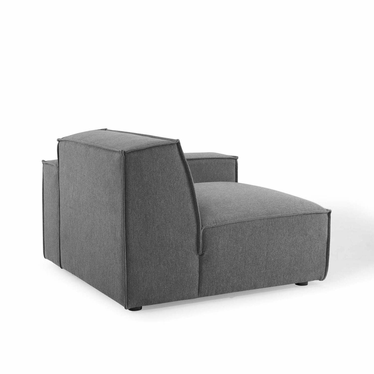 3-Piece Sectional Sofa In Charcoal Upholstery - image-4