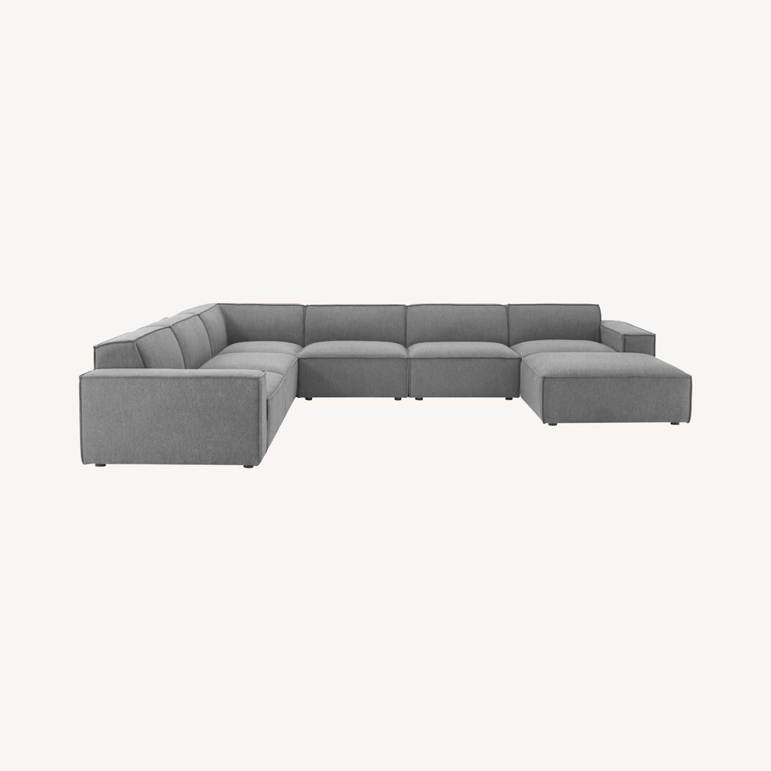 7-Piece Sectional Sofa In Charcoal Upholstery - image-13