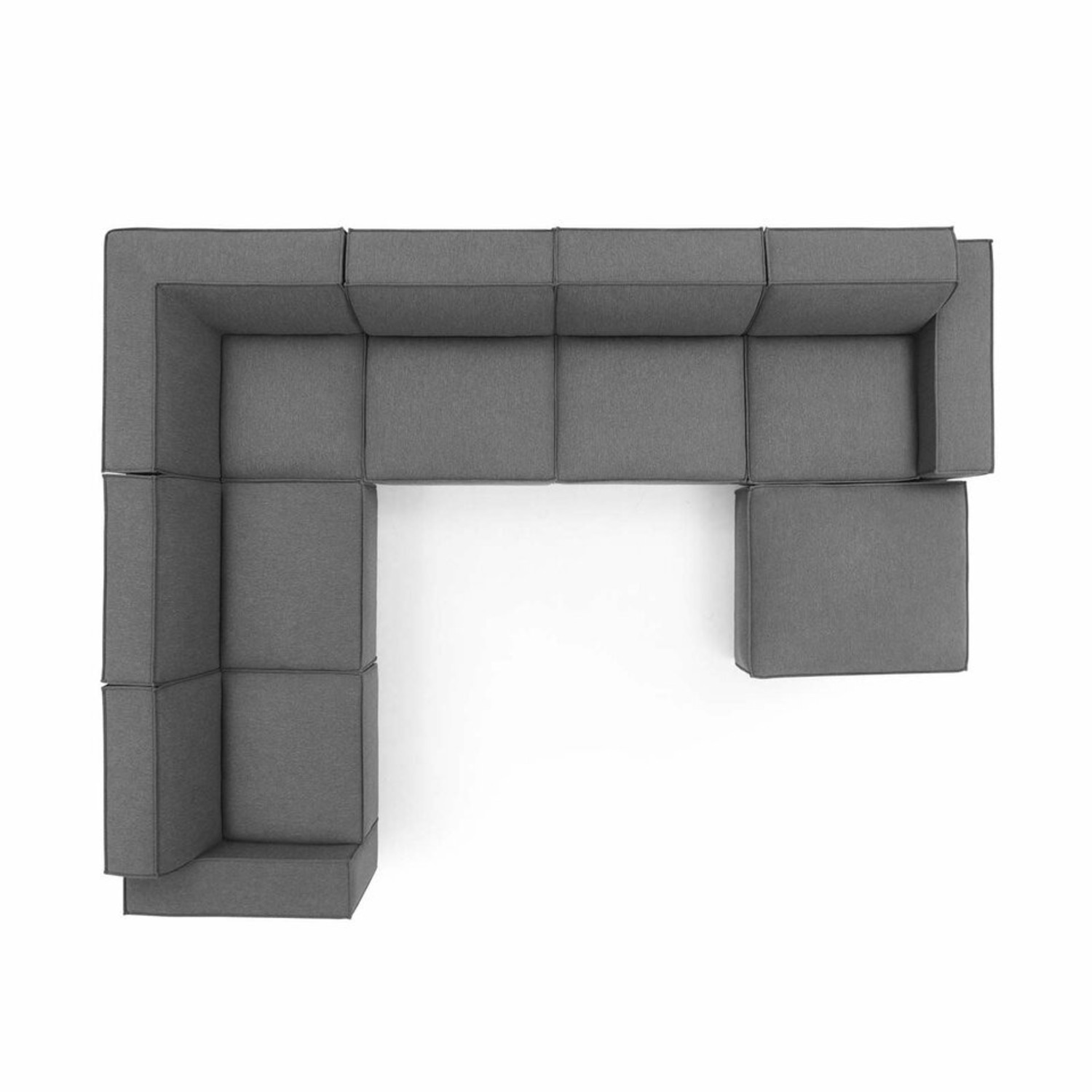 7-Piece Sectional Sofa In Charcoal Upholstery - image-1