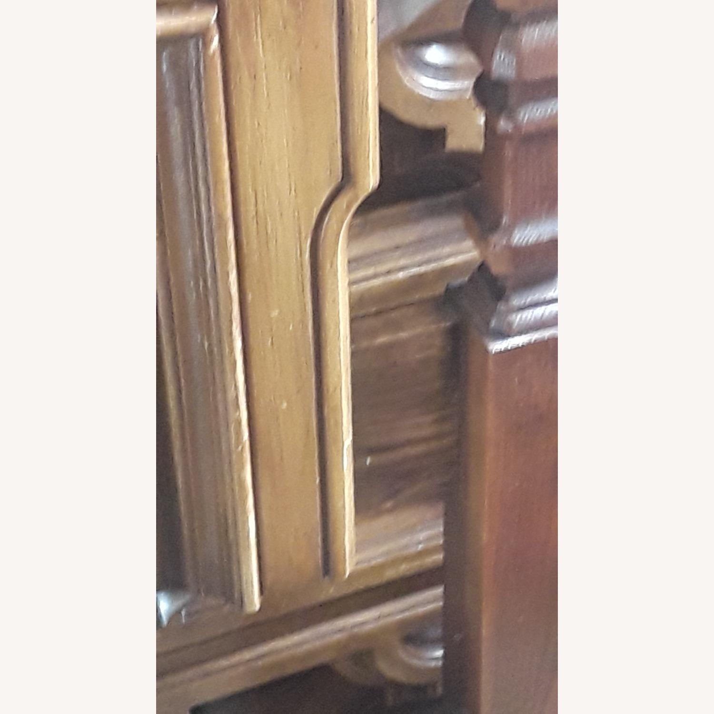 Vintage Wood Headboard Frame - image-0