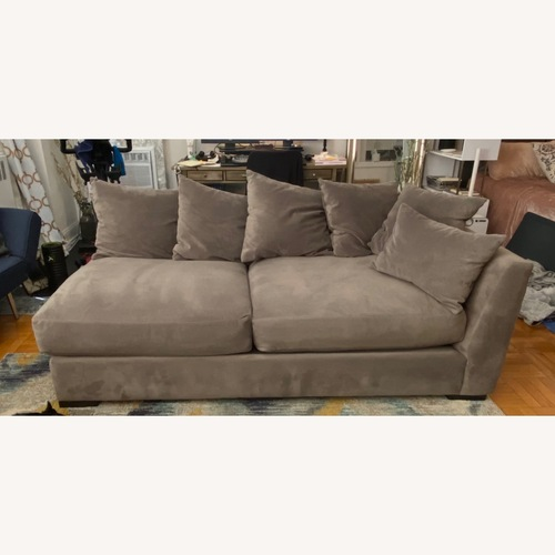 Used Jennifer Convertibles One Arm Sofa Chaise with Deep Seats for sale on AptDeco
