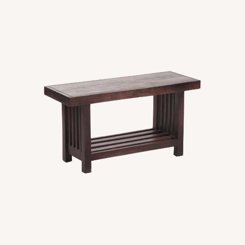 Used Walnut Wood Bench Table for sale on AptDeco