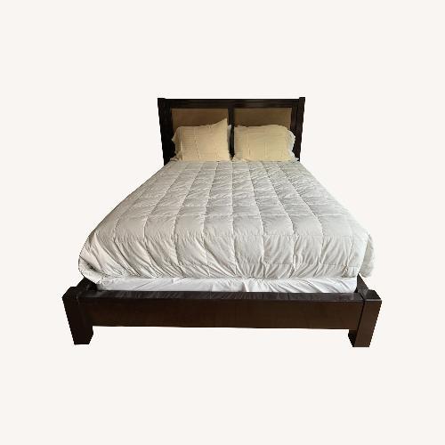Used Stickley Widdicomb Moderne Sunburst Queen Bed for sale on AptDeco