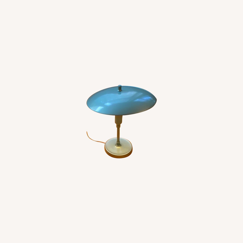 Pottery Barn Celadon Green Table Lamps - image-0