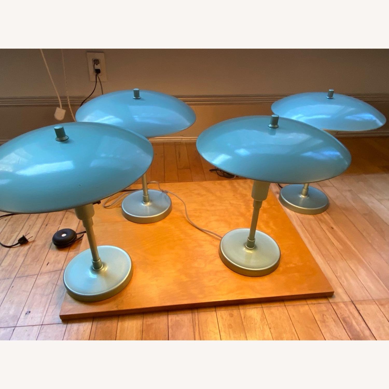 Pottery Barn Celadon Green Table Lamps - image-2