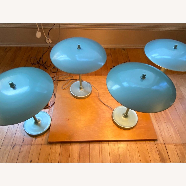 Pottery Barn Celadon Green Table Lamps - image-1