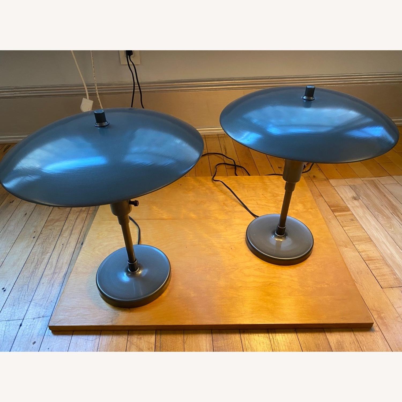 Pottery Barn Celadon Green Table Lamps - image-3