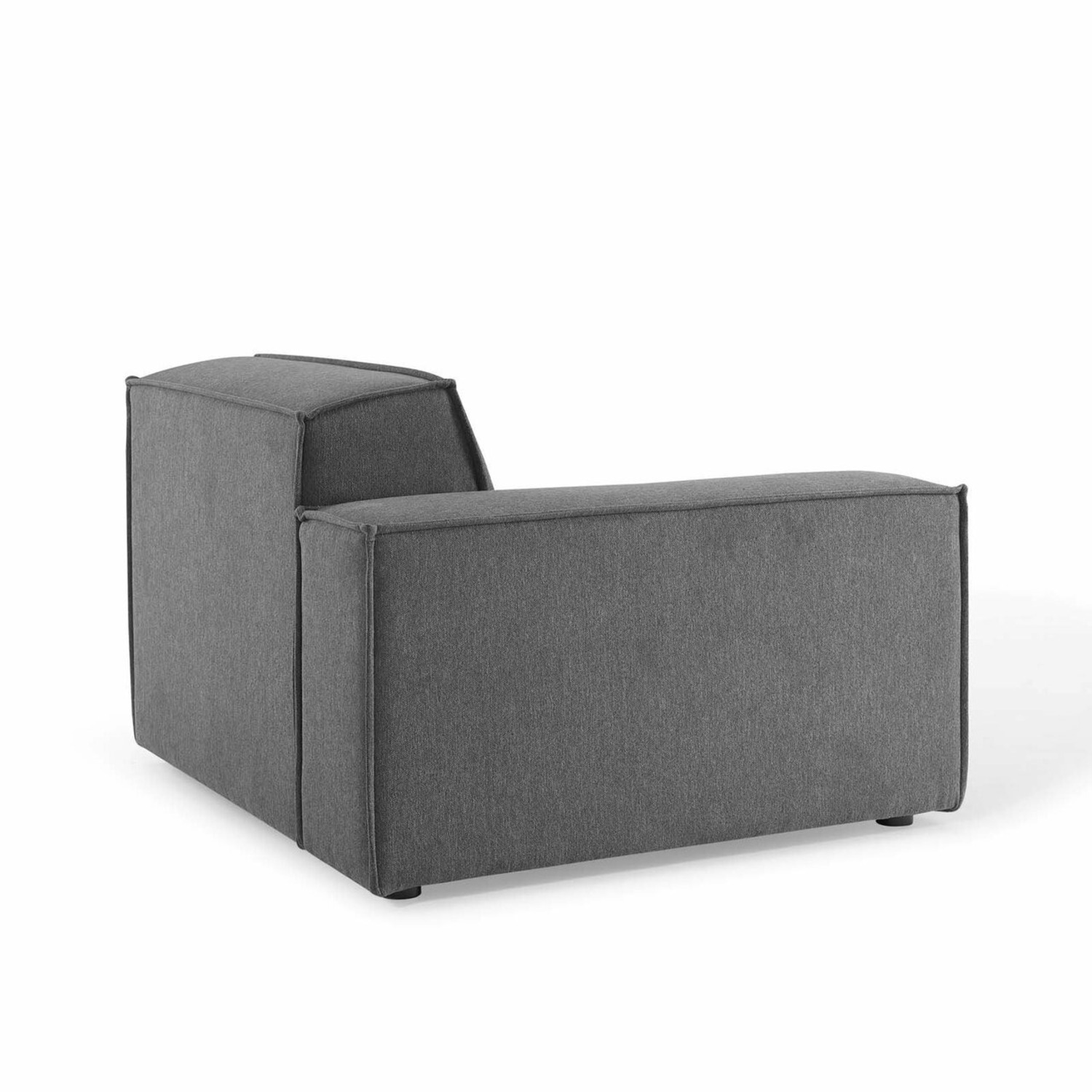 4-Piece Sectional Sofa In Charcoal Upholstery - image-7