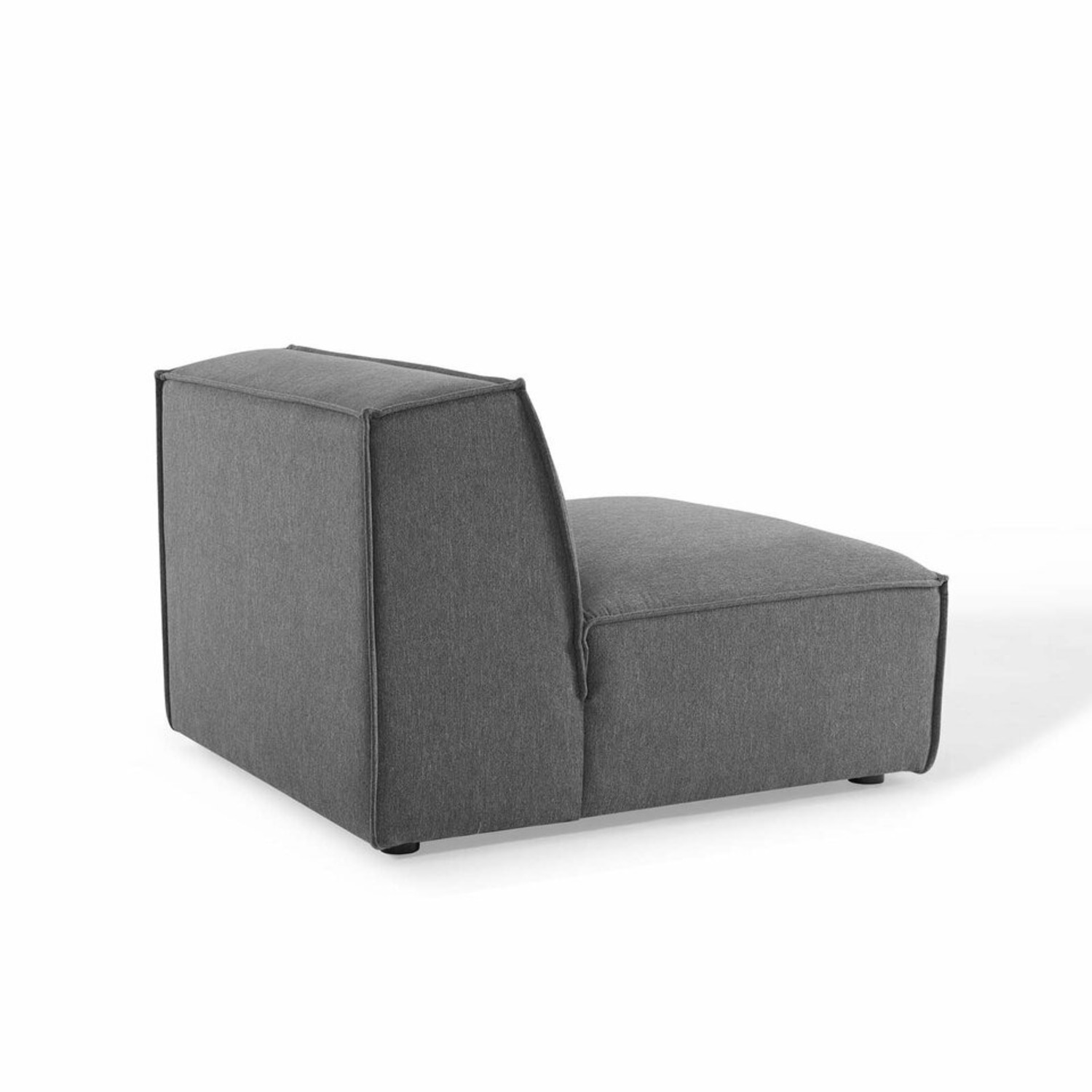 4-Piece Sectional Sofa In Charcoal Upholstery - image-8