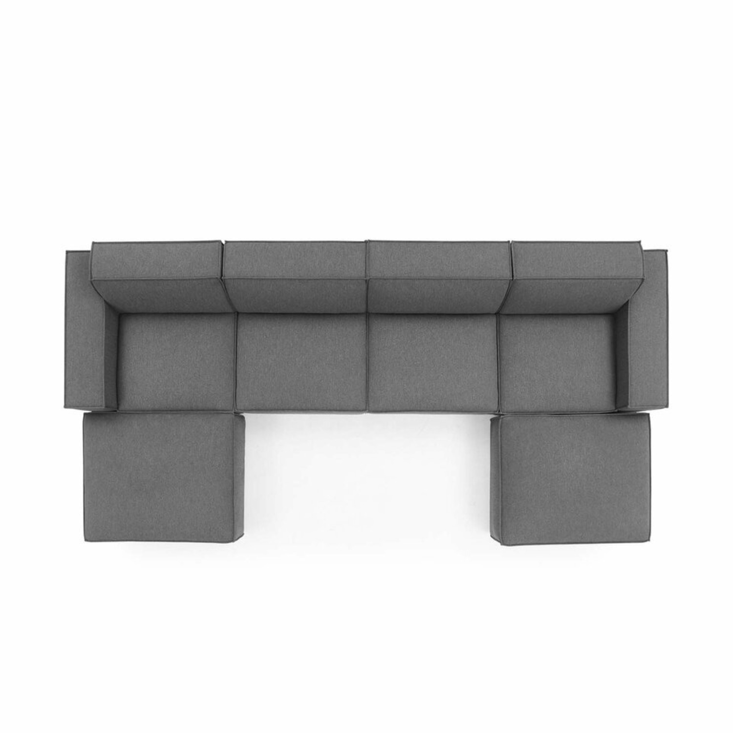 6-Piece Sectional Sofa In Charcoal Upholstery - image-1