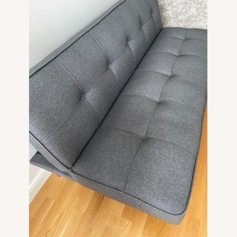 Serta Rane Collection Convertible Sofa, Charcoal - image-9
