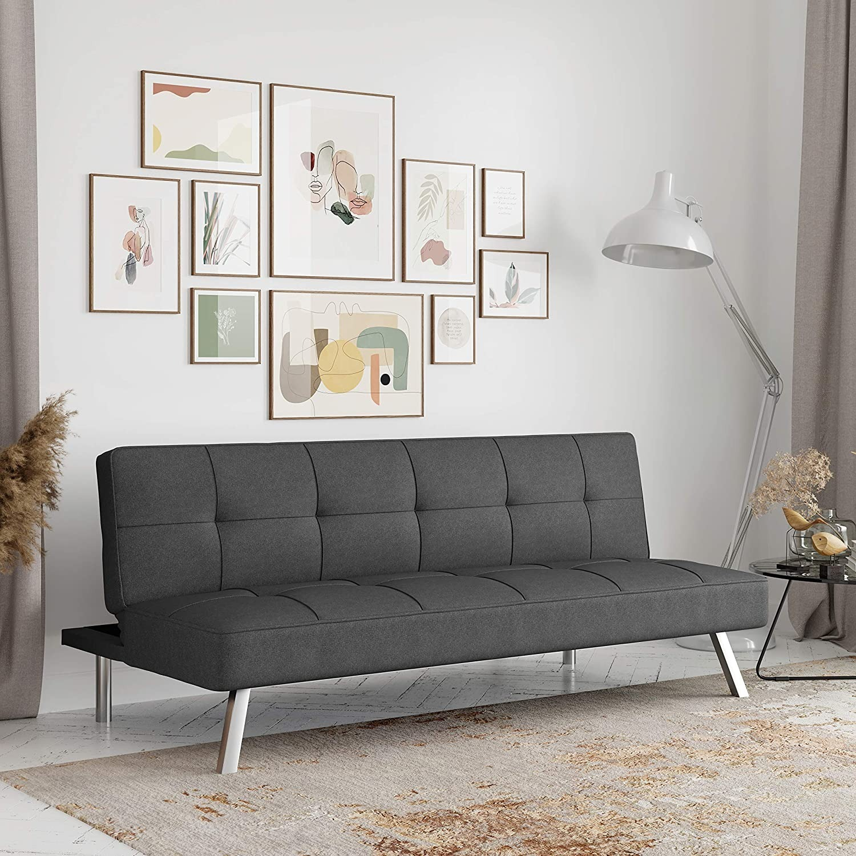 Serta Rane Collection Convertible Sofa, Charcoal - image-1