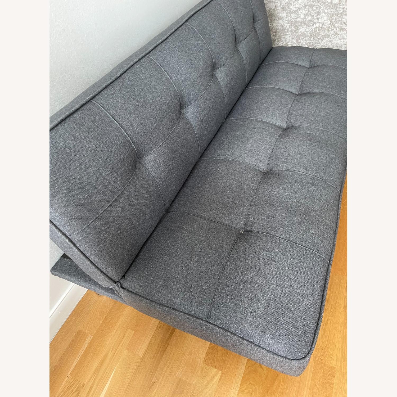 Serta Rane Collection Convertible Sofa, Charcoal - image-7