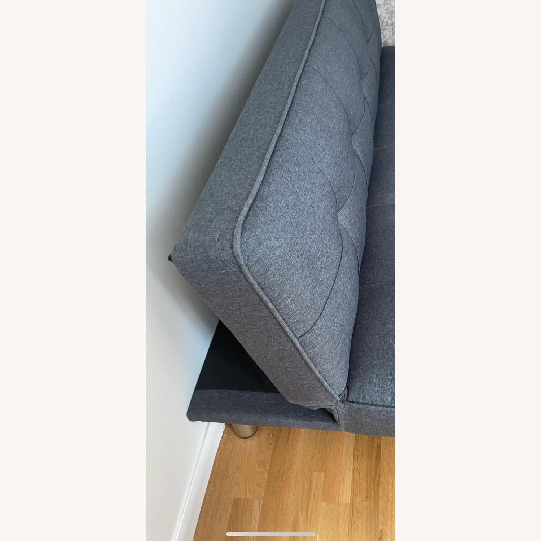 Serta Rane Collection Convertible Sofa, Charcoal - image-5