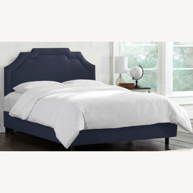 One Kings Lane Lola Bed Navy Linen - image-1