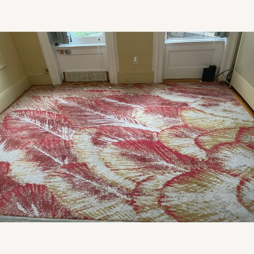 Used Feizy Gustavia Red & Gold Rug for sale on AptDeco
