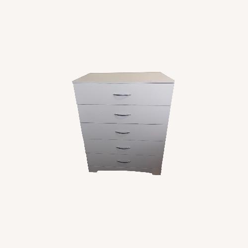 Used 5 Drawer White South Shore Dresser for sale on AptDeco
