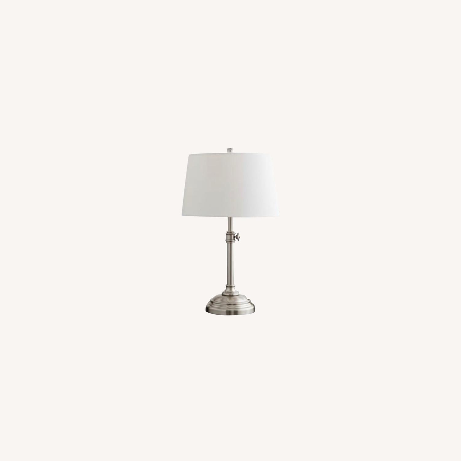 Pottery Barn Chelsea Table Lamps 25 Nickel - image-0