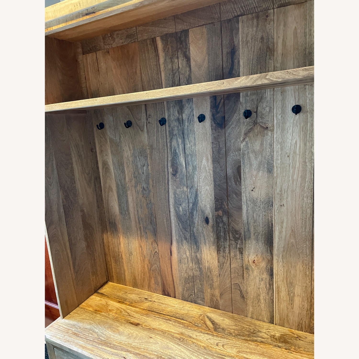 Holbrook Natural Reclaimed Wood Hall Tree Entryway - image-2
