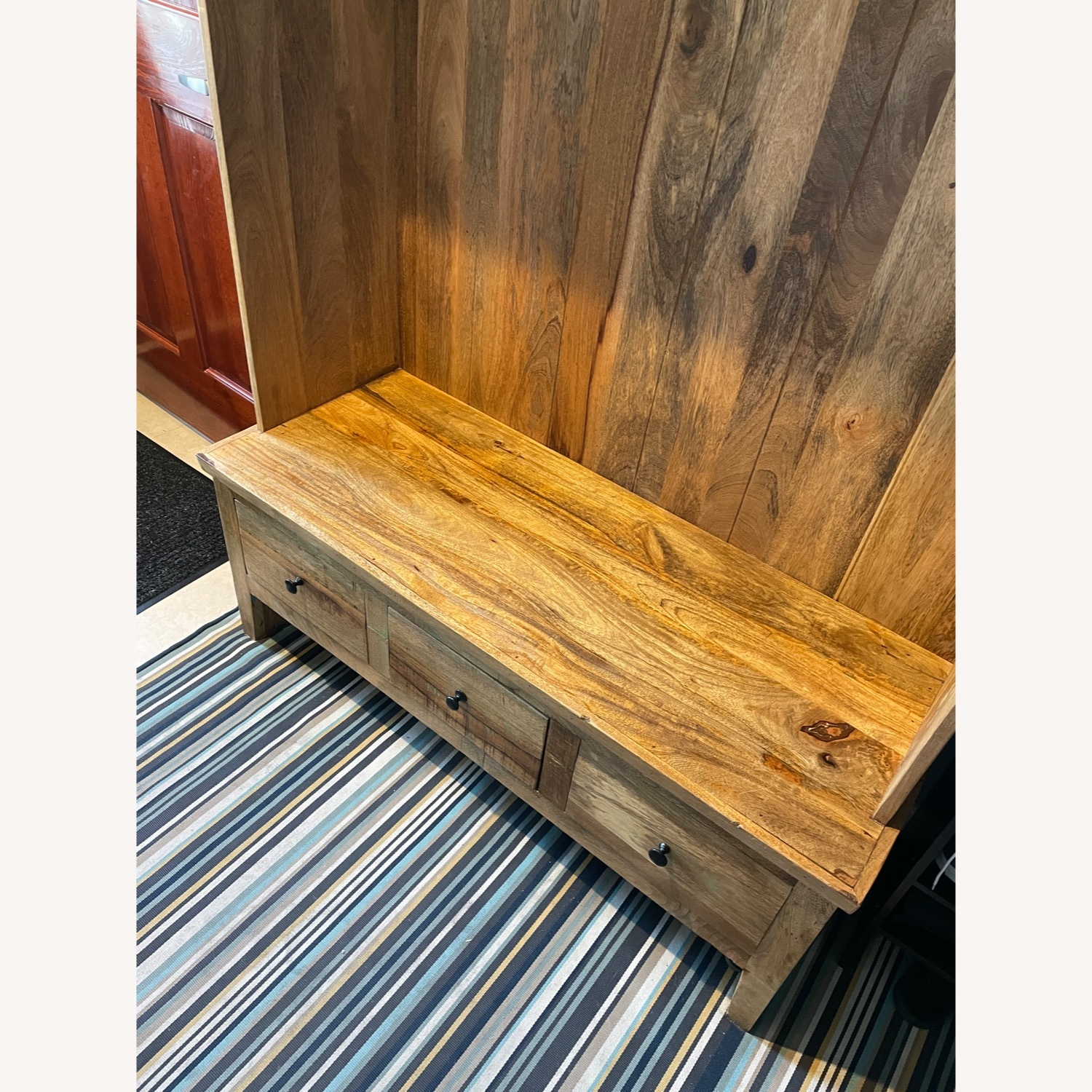 Holbrook Natural Reclaimed Wood Hall Tree Entryway - image-4