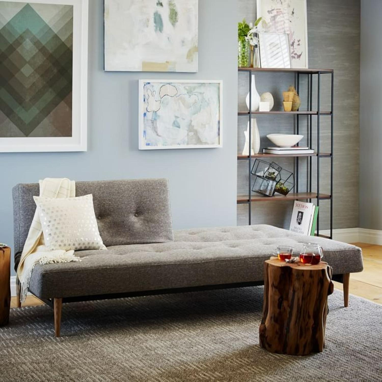 West Elm Mid-Century Futon Sofa Grey - image-3