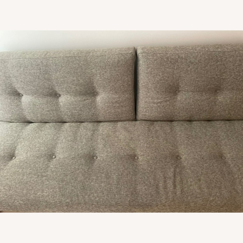 West Elm Mid-Century Futon Sofa Grey - image-5