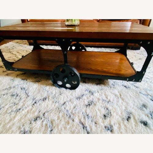 Used Wood Cart Coffee Table for sale on AptDeco