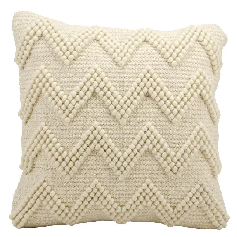 Wayfair Coletta Chevron Jute Throw Pillow - image-5