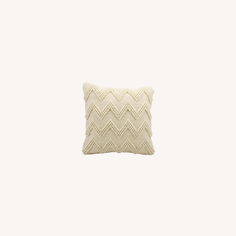 Wayfair Coletta Chevron Jute Throw Pillow - image-0