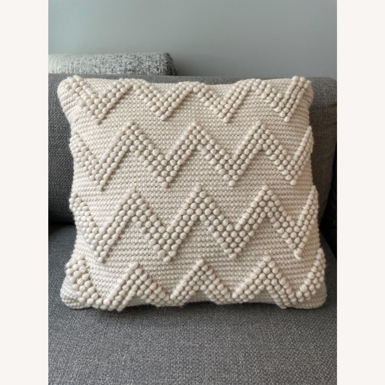Wayfair Coletta Chevron Jute Throw Pillow - image-1