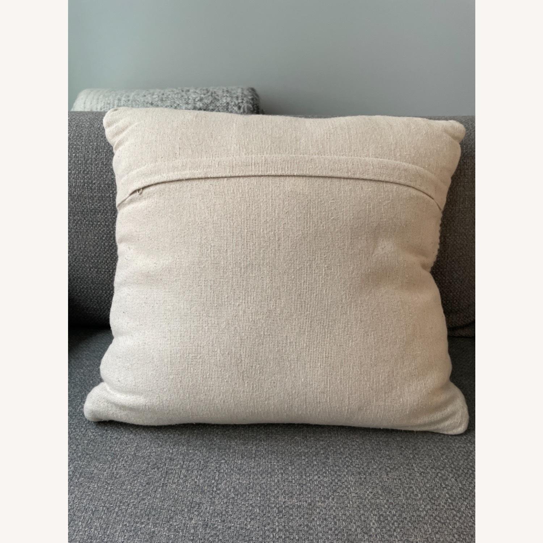Wayfair Coletta Chevron Jute Throw Pillow - image-2