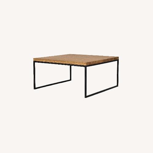 Used Article Taiga Oak Square Coffee Table for sale on AptDeco
