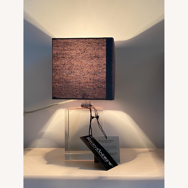Regina Andrew Crystal Mini Block Lamp - image-3