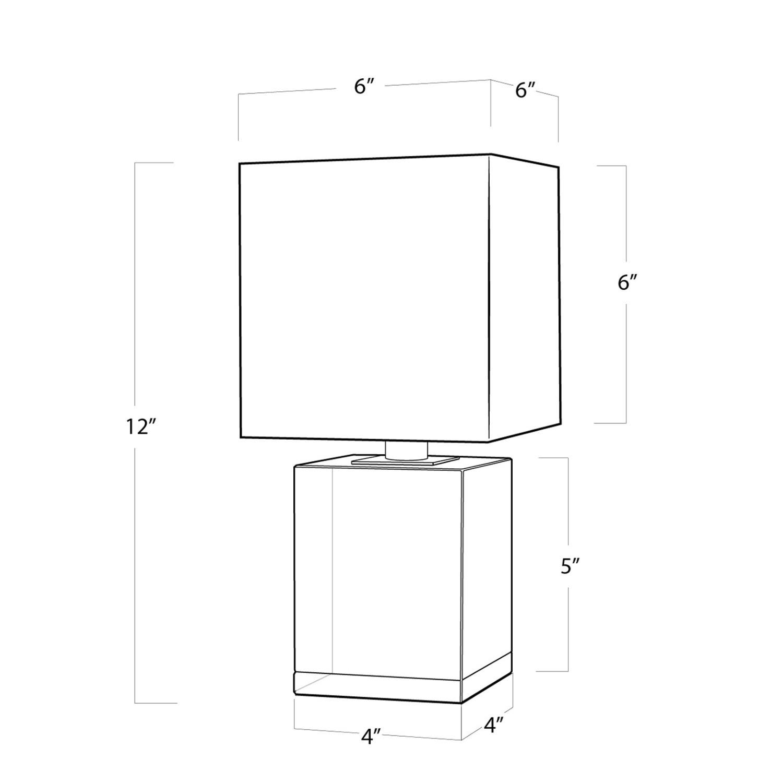 Regina Andrew Crystal Mini Block Lamp - image-5